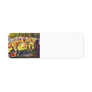 Georges Seurat- 'A Sunday on La Grande Jatte' Return Address Label