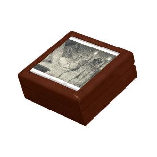 Georges Seurat- Anaïs Faivre Haumonté on deathbed Trinket Boxes