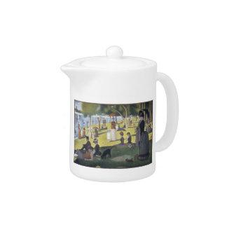 Georges Seurat Artwork Teapot