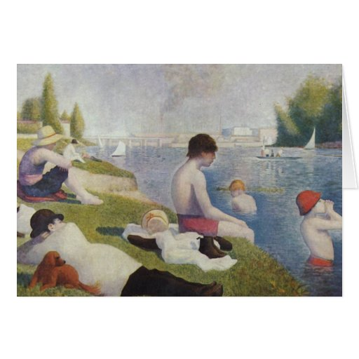 Georges Seurat - Bathers at Asnieres Card
