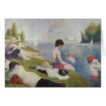 Georges Seurat - Bathers at Asnieres Greeting Card