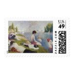 Georges Seurat - Bathers at Asnières Postage Stamp