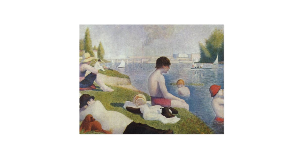 Georges seurat bathers at asnieres postcard zazzle for Design your own bathers