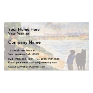 Georges Seurat- Boy with horse Business Card Template