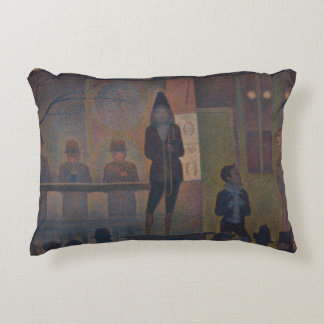 Georges Seurat - Circus Sideshow Decorative Pillow