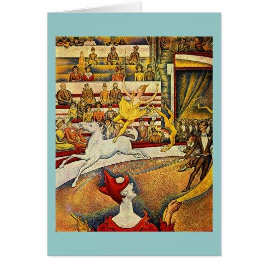 Georges Seurat - Der Zirkus - Circus Card