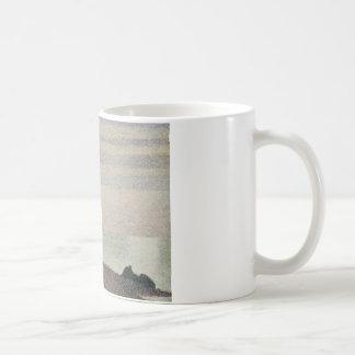 Georges Seurat - Evening, Honfleur Coffee Mug