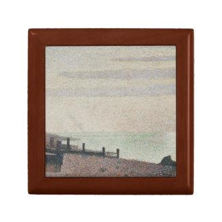 Georges Seurat - Evening, Honfleur Keepsake Box