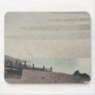 Georges Seurat - Evening, Honfleur Mouse Pad
