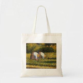 Georges Seurat- Farm Women at Work Canvas Bag
