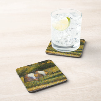 Georges Seurat- Farm Women at Work Coasters