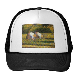 Georges Seurat- Farm Women at Work Trucker Hat