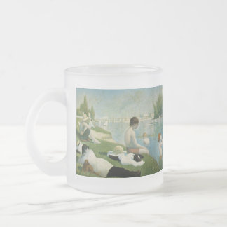 Georges Seurat Frosted Glass Coffee Mug