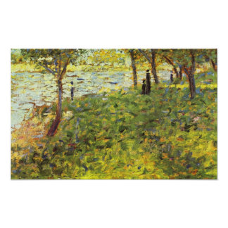 Georges Seurat-Landscape with figures Poster