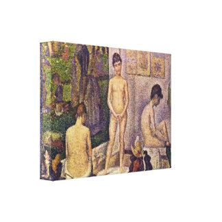 Georges Seurat - Les Poseuses ensemble Gallery Wrap Canvas