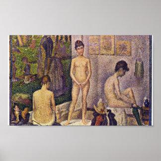 Georges Seurat - Les Poseuses ensemble Posters