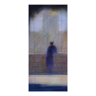 Georges Seurat- Man leaning on a parapet Full Color Rack Card