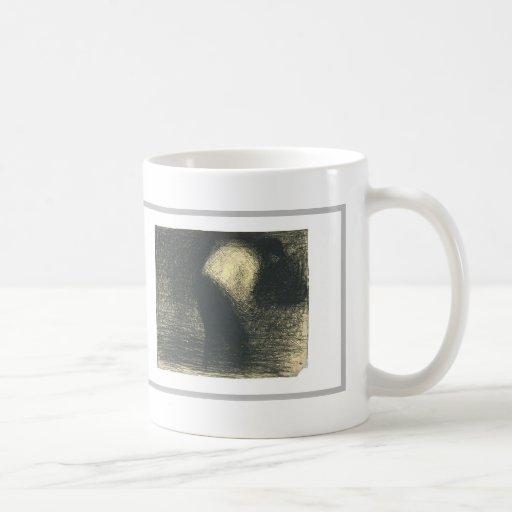 Georges Seurat:Man's face in profile Mug