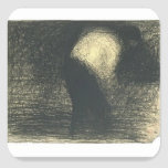 Georges Seurat:Man's face in profile Sticker
