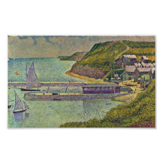 Georges Seurat - Marine (Port en Bessin) Poster