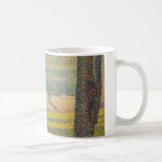 Georges Seurat - Moored Boats and Trees Coffee Mug