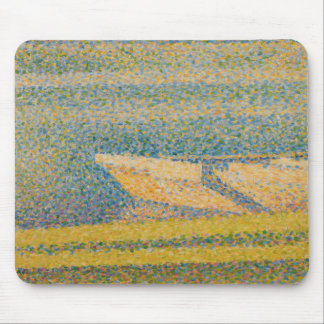 Georges Seurat - Moored Boats and Trees Mouse Pad