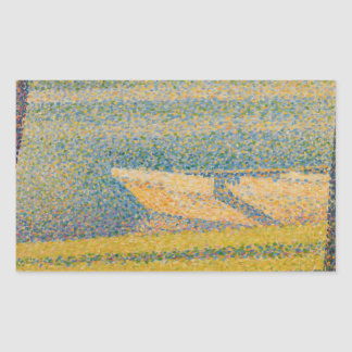 Georges Seurat - Moored Boats and Trees Rectangular Sticker