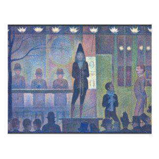 Georges Seurat Parade de Cirque Postcard