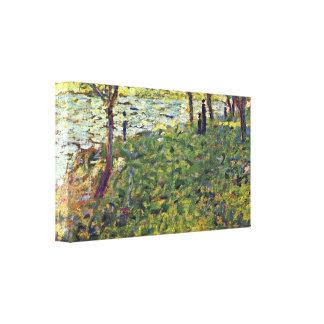 Georges Seurat - Paysage et personnages Canvas Print