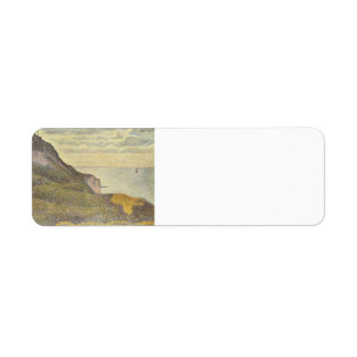 Georges Seurat- Port-en-Bessin, Semaphore & Cliffs Custom Return Address Labels