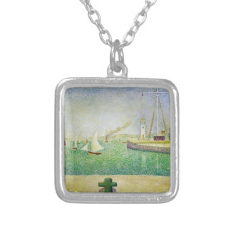 Georges Seurat- Port of Honfleur Custom Necklace