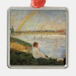Georges Seurat- Rainbow Christmas Tree Ornament