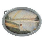 Georges Seurat- Rainbow Oval Belt Buckles