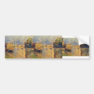 Georges Seurat- River's Edge Car Bumper Sticker