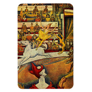 Georges Seurat s The Circus 1891 - Clown Rider Rectangular Magnets