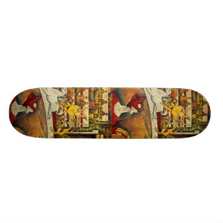 Georges Seurat s The Circus 1891 Skateboard Deck