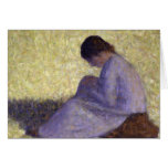 Georges Seurat - Seated Woman Greeting Cards
