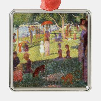 Georges Seurat-Sketch for Sunday Noon,Grande Jatte Metal Ornament