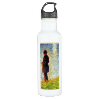 Georges Seurat - Sunday at the Grand Jatte study o Stainless Steel Water Bottle