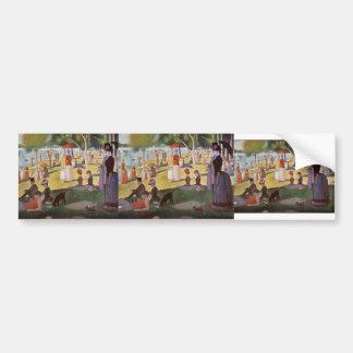 Georges Seurat-Sunday noon La Grande Jatte Island Bumper Sticker
