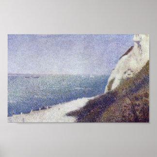 Georges Seurat - The beach Le Bas Butin Honfleur Poster