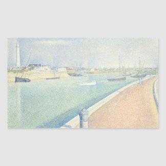 Georges Seurat - The Channel of Gravelines Rectangular Sticker