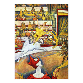 Georges Seurat - The Circus 5x7 Paper Invitation Card