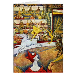 Georges Seurat - The Circus Card
