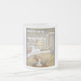 Georges Seurat - The Circus Frosted Glass Coffee Mug