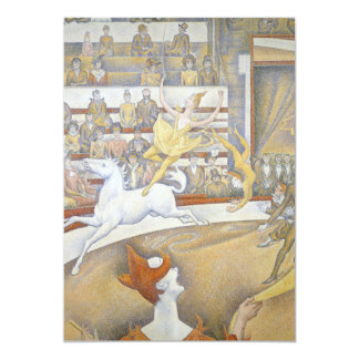 Georges Seurat - The Circus Personalized Invitation