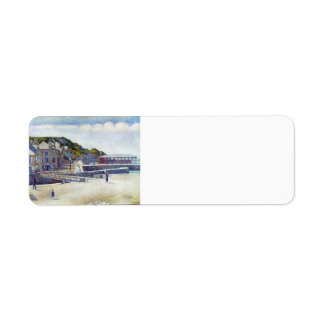 Georges Seurat- The Harbour and the Quays Custom Return Address Label