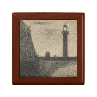 Georges Seurat - The Lighthouse at Honfleur Jewelry Box