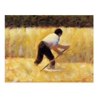 Georges Seurat- The Mower Postcard