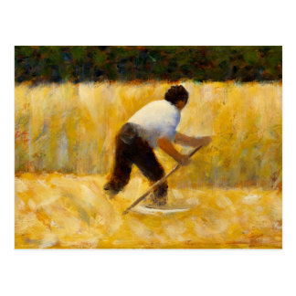 Georges Seurat - The Mower Postcard